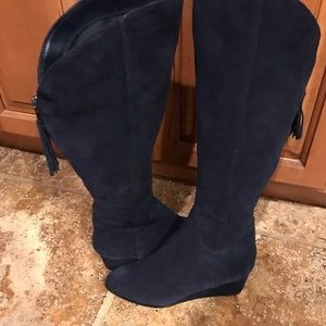 Steven By Steve Madden Shoes - Navy blue suede boots